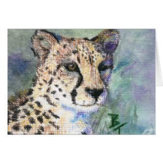 Cheetah Portrait aceo Blank Card