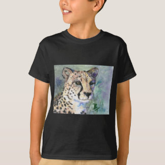 Cheetah Portrait aceo Boys Tshirt