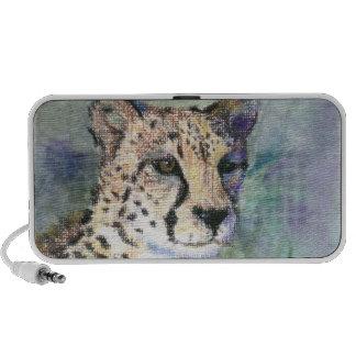 Cheetah Portrait aceo Doodle Speaker