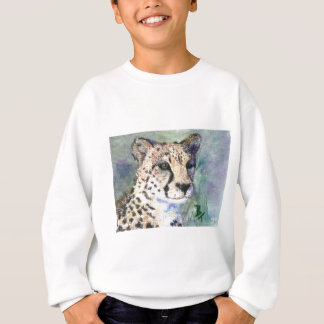 Cheetah Portrait aceo Kids Sweatshirt