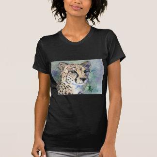 Cheetah Portrait aceo Ladies Tshirt