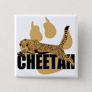 Cheetah Power 15 Cm Square Badge
