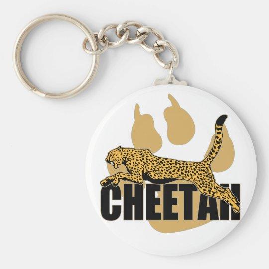 Cheetah Power Basic Round Button Key Ring
