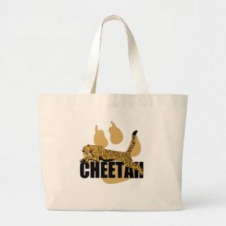 Cheetah Power Large Tote Bag