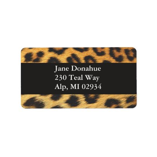 Cheetah Print Address Label
