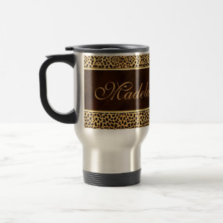 Cheetah Print and Stiletto Custom Coffee Mug