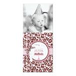 Cheetah Print & Birthday Cake Photo Template 10 Cm X 24 Cm Invitation Card