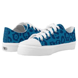 Cheetah Print Blue (2) Printed Shoes