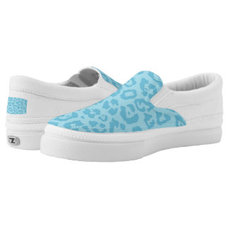 Cheetah Print Blue (6) Printed Shoes