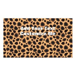 Cheetah Print Business Cards