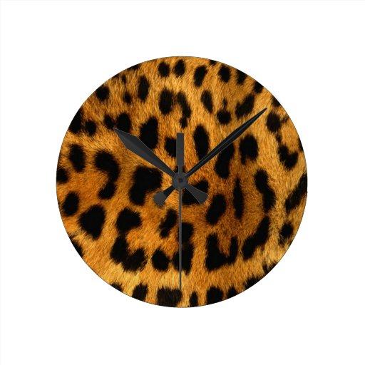 Cheetah Print Clock