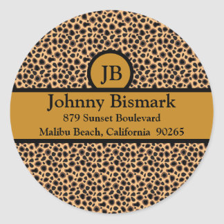 Cheetah Print Customizable Template Classic Round Sticker