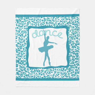 Cheetah Print Dance in Turquoise Blanket