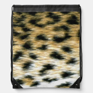 Cheetah Print Drawstring Bag