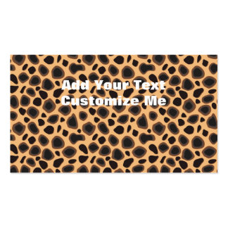 Cheetah Print Pack Of Standard Business Cards