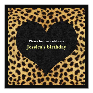 Cheetah Print Party Invitation