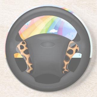 Cheetah  Print Steering Wheel Coaster