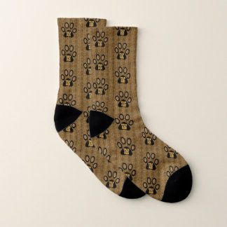 Cheetah Print Talk to the Paw for Cat Lovers Socks