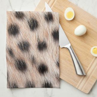 Cheetah Print Tea Towel