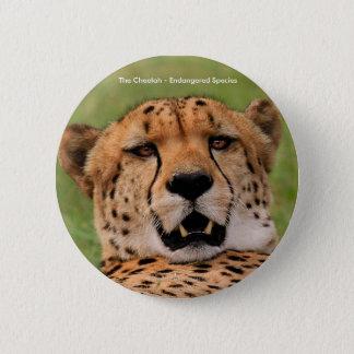 "Cheetah Round Badge - Standard, 5.7 cm (2.25"")"