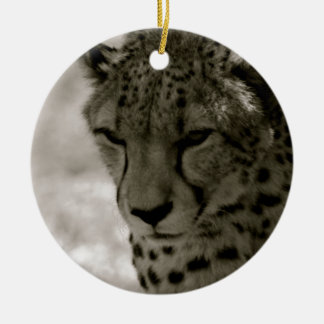 Cheetah Round Ceramic Decoration