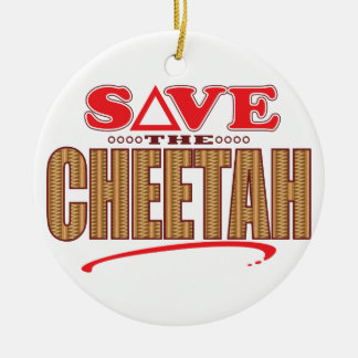 Cheetah Save Christmas Ornament