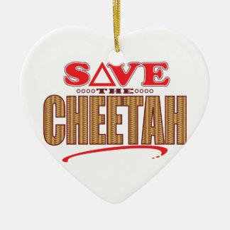 Cheetah Save Christmas Ornament