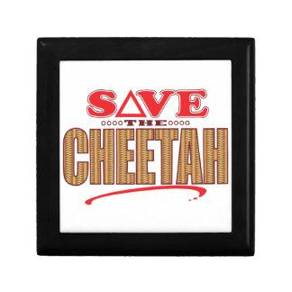 Cheetah Save Small Square Gift Box
