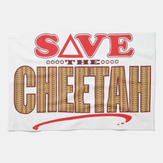 Cheetah Save Tea Towel