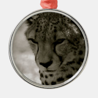 Cheetah Silver-Colored Round Decoration