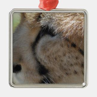 Cheetah Silver-Colored Square Decoration