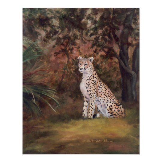 Cheetah Sitting Proud Poster/Print Poster