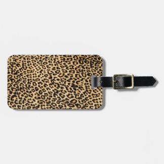Cheetah skin luggage tag