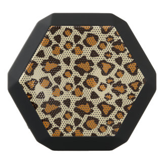 Cheetah skin pattern black bluetooth speaker