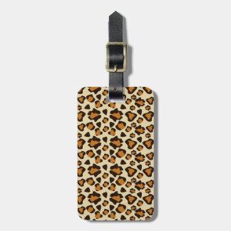 Cheetah skin pattern luggage tag