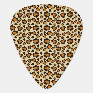 Cheetah skin pattern plectrum