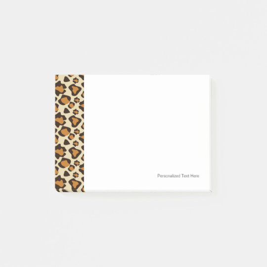 Cheetah skin pattern post-it notes