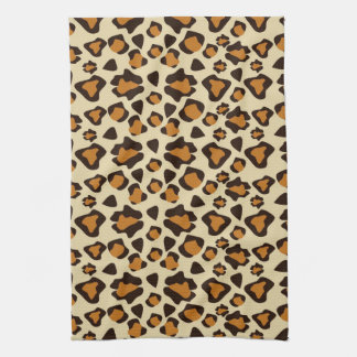 Cheetah skin pattern tea towel