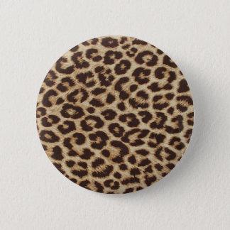 Cheetah Skin Print 6 Cm Round Badge