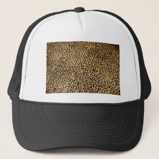 Cheetah skin trucker hat