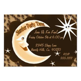 Cheetah Sleepy Moon Slumber Party Card