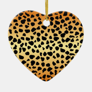 Cheetah spots - Heart Ornament
