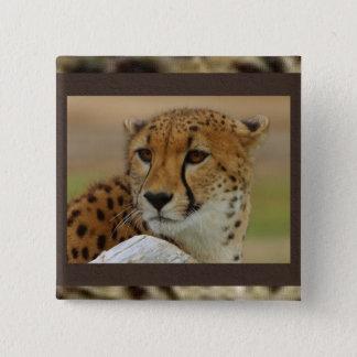 Cheetah Square Button