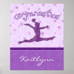 Cheetah Stripe Gymnastics Poster