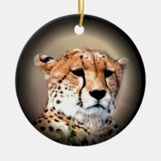 Cheetah Tear Marks Hakunamatata.png Round Ceramic Decoration