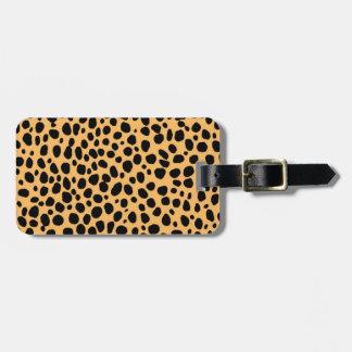 Cheetah Texture Bag Tag