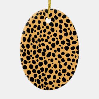 Cheetah Texture Christmas Ornament