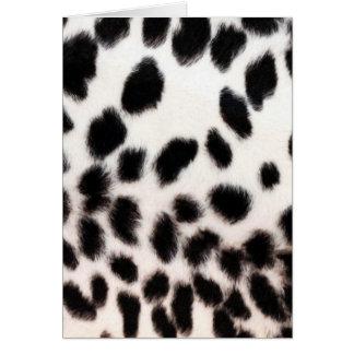 Cheetah White Print Card