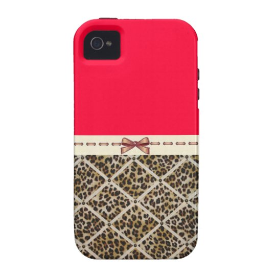 Cheetah with a bow Iphone 4/4s case