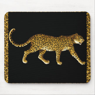 Cheetah with a Spots Border Mouse Mat